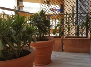 Furnishing a terrace with planters